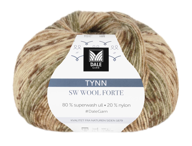 Tynn SW Wool Forte Gul/Rust 100 gr