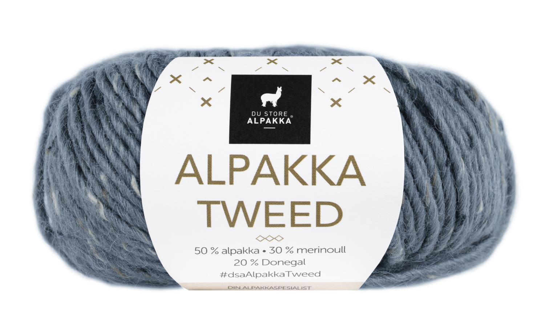 Alpakka Tweed - Blå