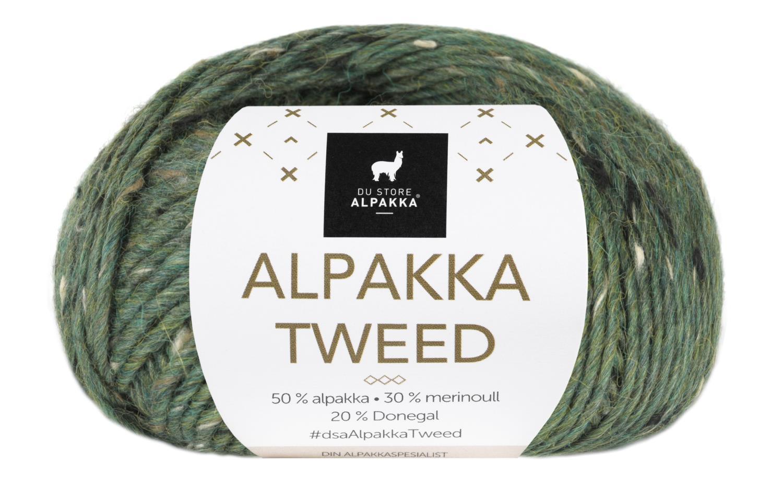 Alpakka Tweed - Furugrønn