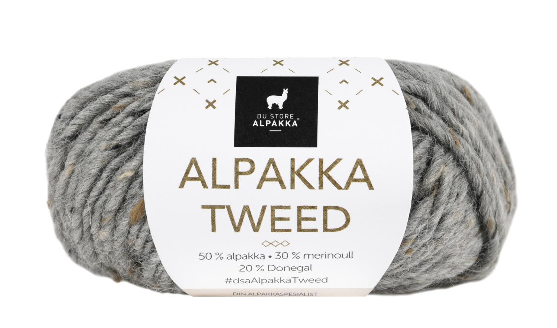 Alpakka Tweed - Grå