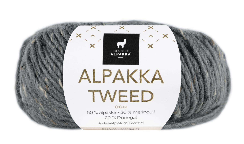 Alpakka Tweed - Gråblå