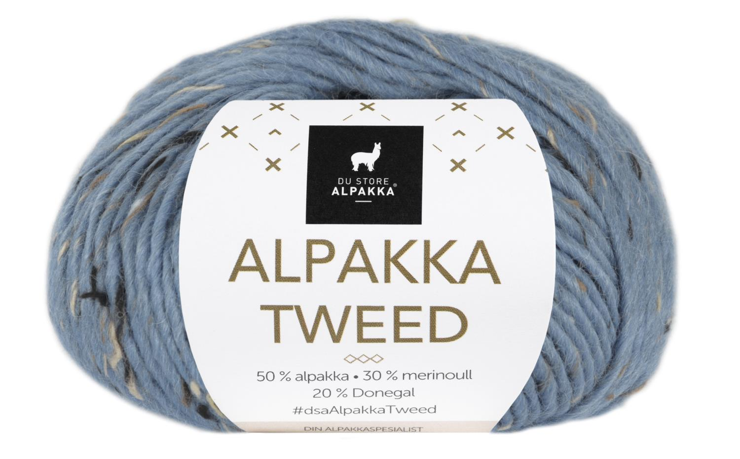 Alpakka Tweed - Lys denim