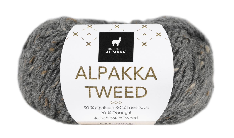 Alpakka Tweed - Mørk grå