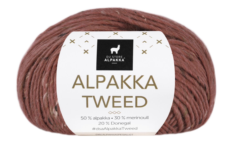 Alpakka Tweed - Mørk Rust