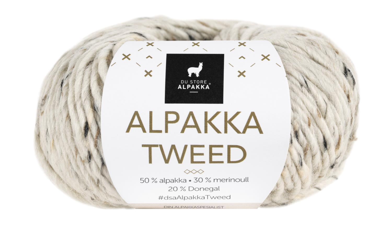 Alpakka Tweed - Natur