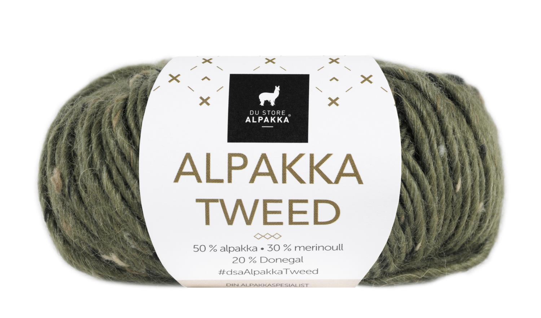 Alpakka Tweed - Oliven