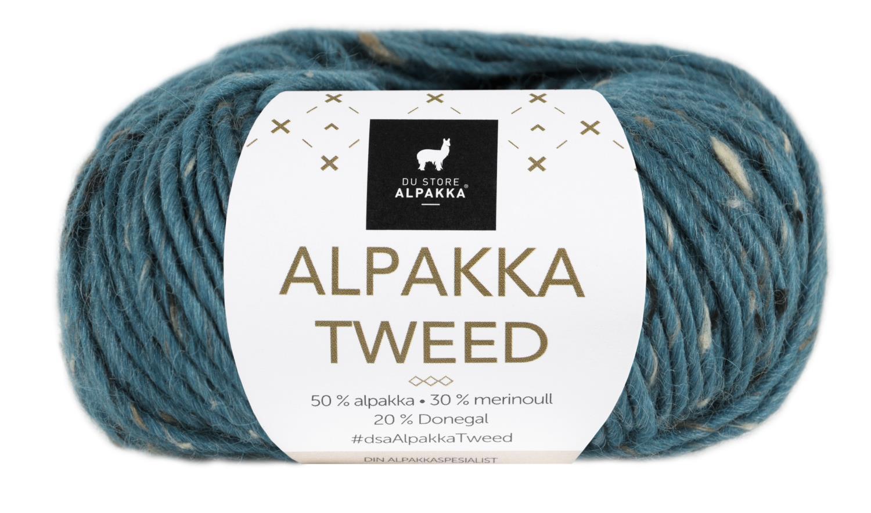Alpakka Tweed - Petrol