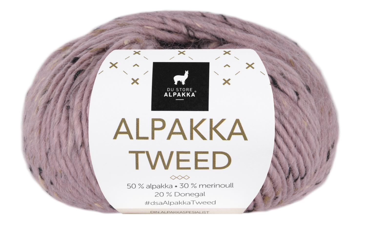 Alpakka Tweed - Rose