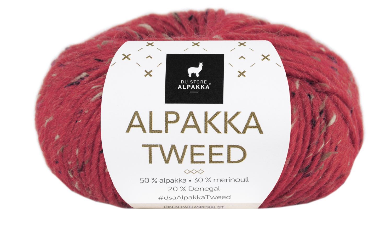 Alpakka Tweed - Rød