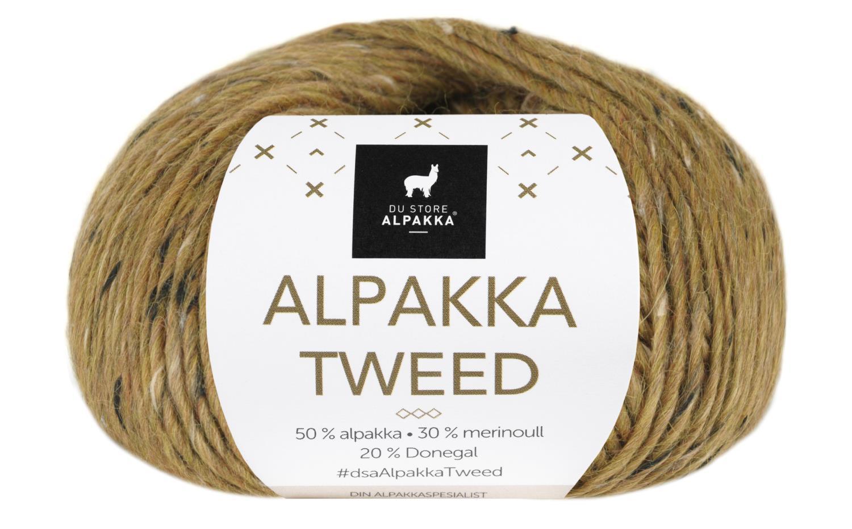 Alpakka Tweed - Sennep