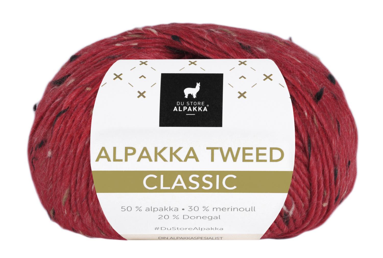 Alpakka Tweed Classic - Rød