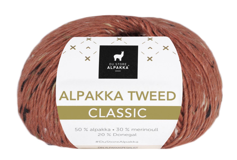 Alpakka Tweed Classic - Rust