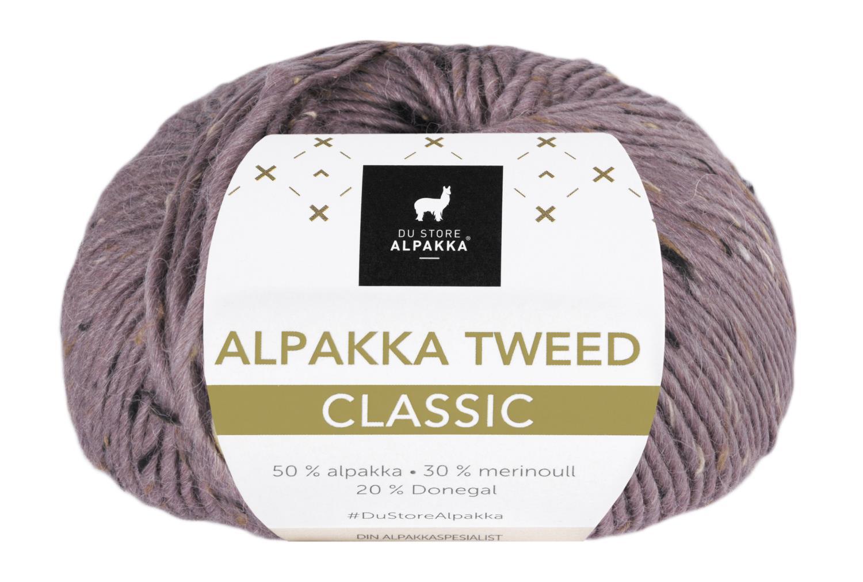 Alpakka Tweed Classic - Mørk Syrin