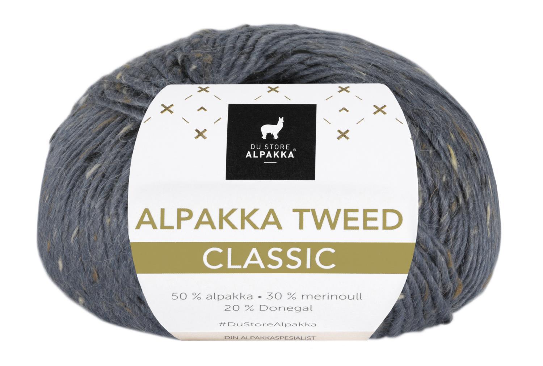 Alpakka Tweed Classic - Mørk Gråblå
