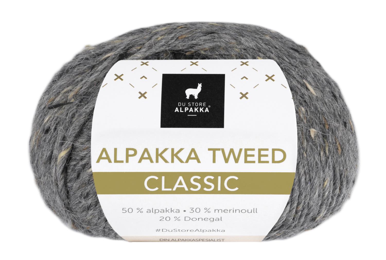 Alpakka Tweed Classic - Mørk Grå