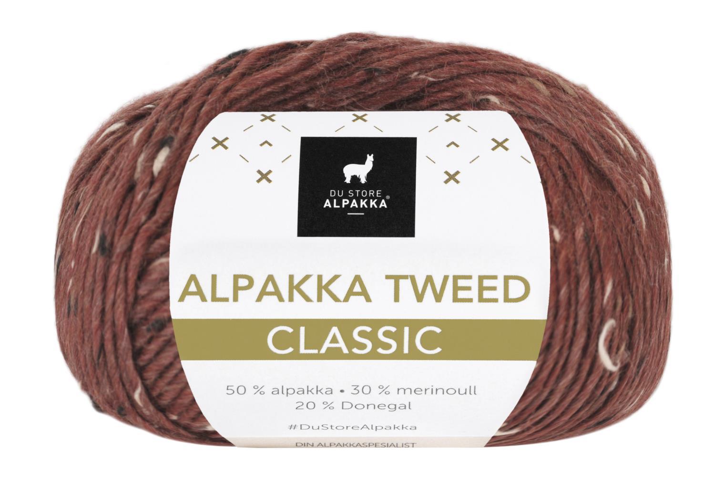 Alpakka Tweed Classic - Mørk rust