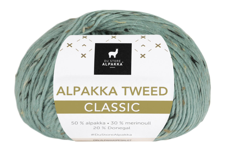 Alpakka Tweed Classic - Lys Sjøgrønn