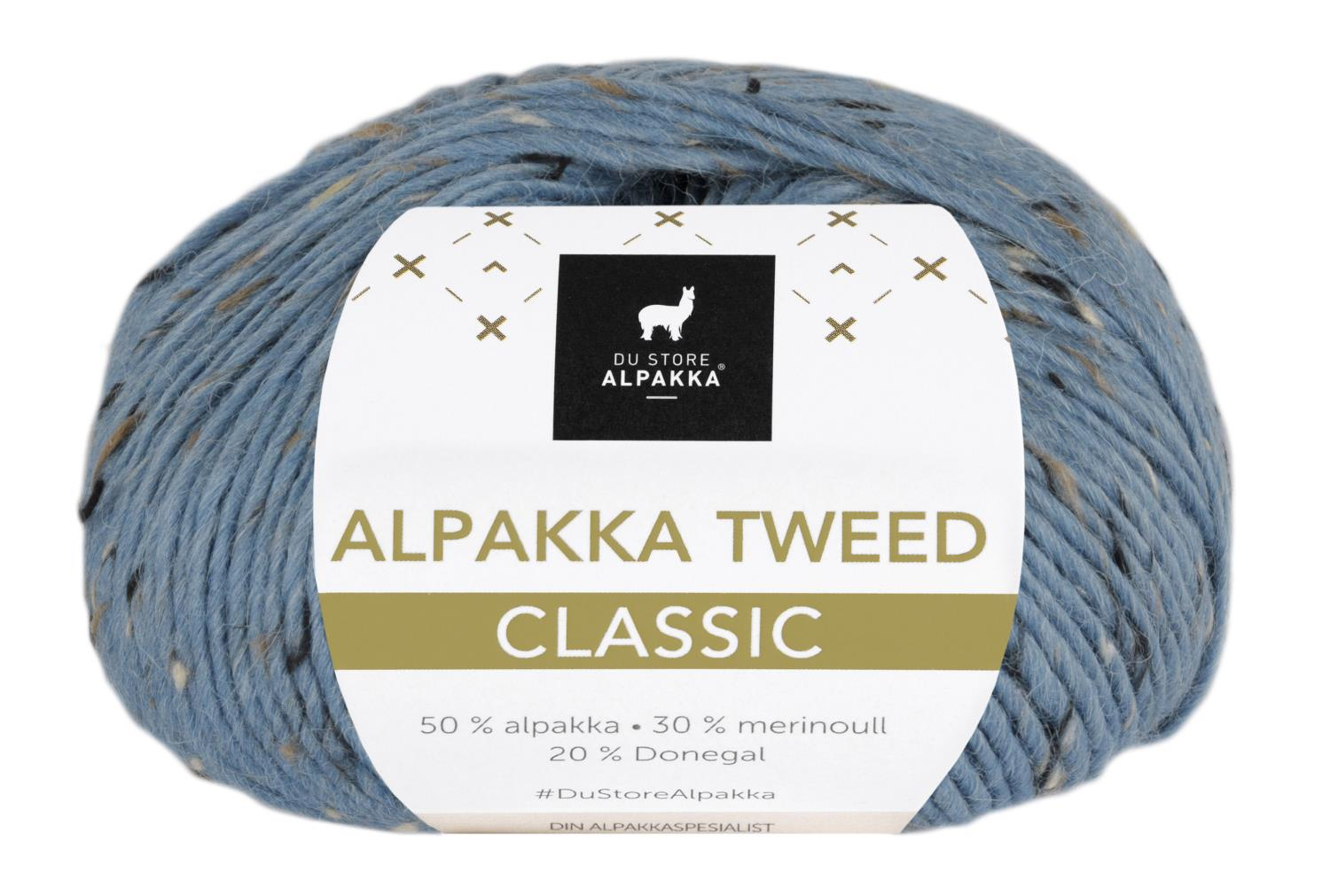 Alpakka Tweed Classic - Lys Denim