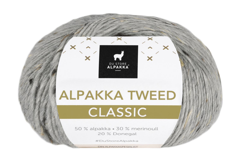 Alpakka Tweed Classic - Grå