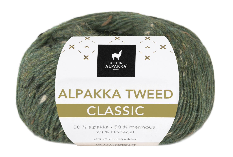 Alpakka Tweed Classic - Furugrønn