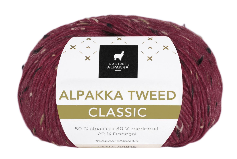 Alpakka Tweed Classic - Dyp Rød