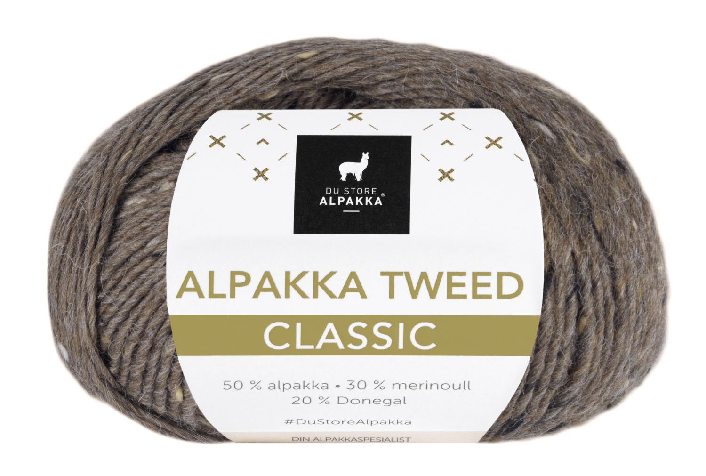 Alpakka Tweed Classic - Brun