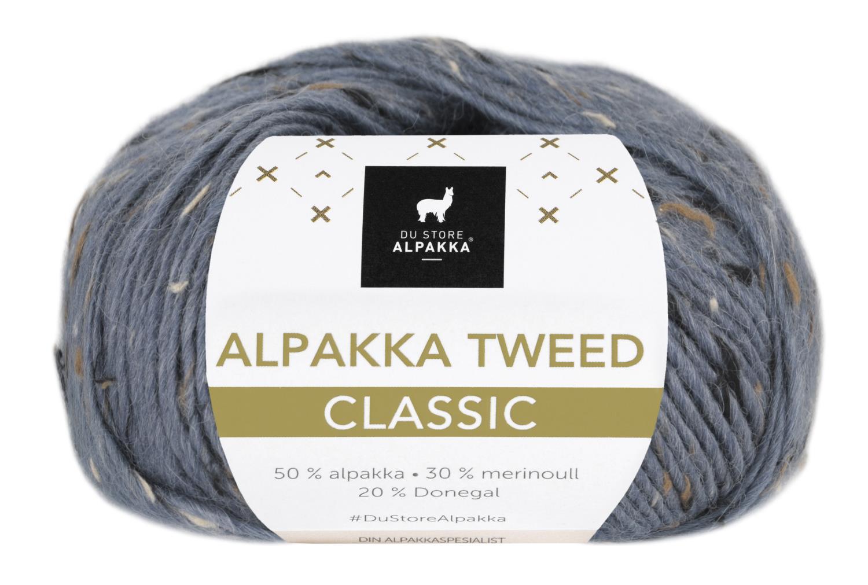 Alpakka Tweed Classic - Blå