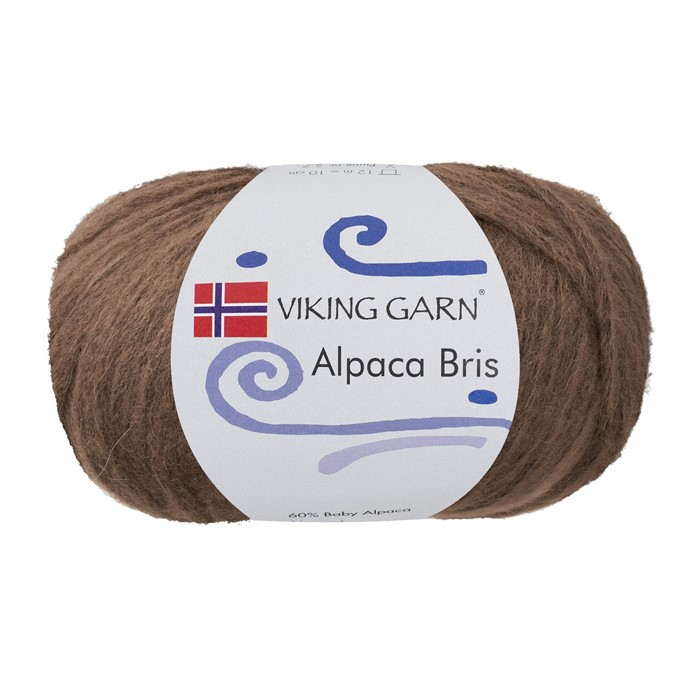 Alpaca Bris - lyse Brun