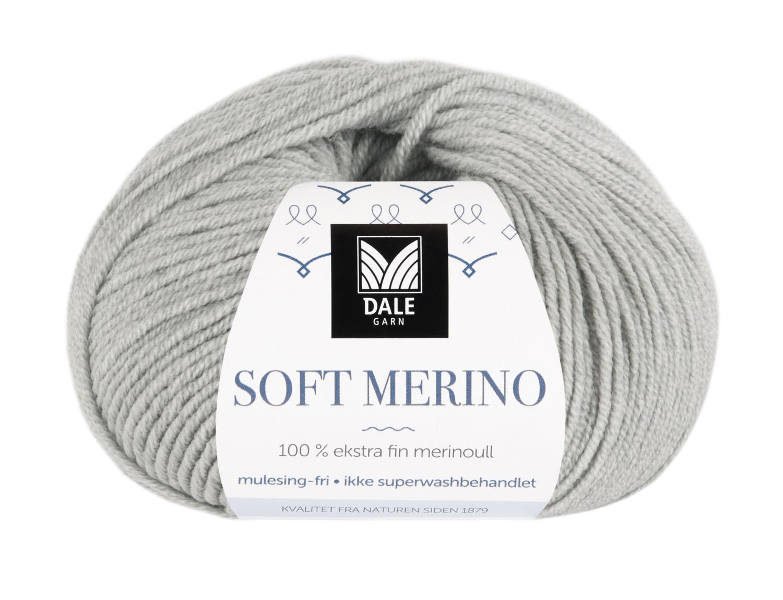 Soft Merino - Lys grå melert