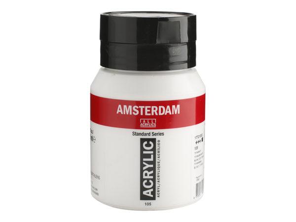 Amsterdam Standard 500ml - 105 Titanium white