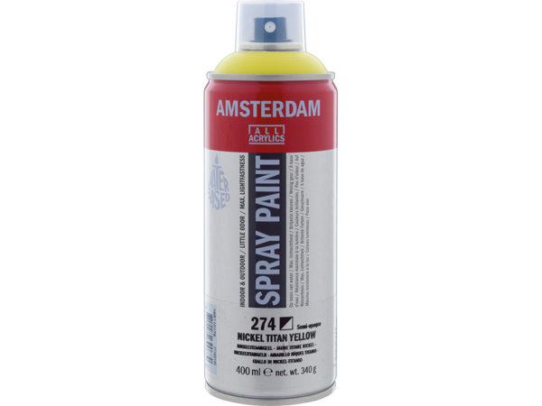 Amsterdam Spray 400ml - 274 Nickel titan yellow
