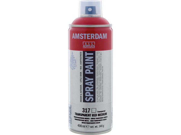 Amsterdam Spray 400ml - 317 Transparent red medium