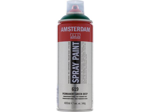 Amsterdam Spray 400ml - 619 Permanent green deep