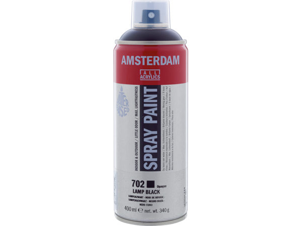 Amsterdam Spray 400ml - 702 Lamp black