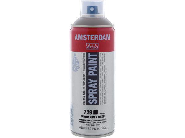 Amsterdam Spray 400ml - 729 Warm grey deep