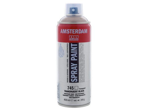 Amsterdam Spray 400ml - 745 Transparent black