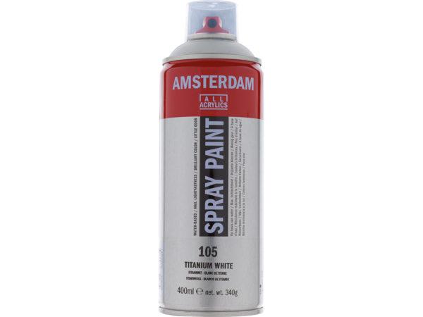 Amsterdam Spray 400ml - 105 Titanium white
