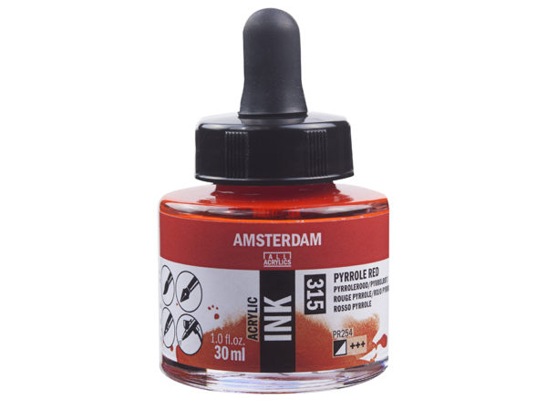 Amsterdam Ink 30ml - 315 Pyrrole Red