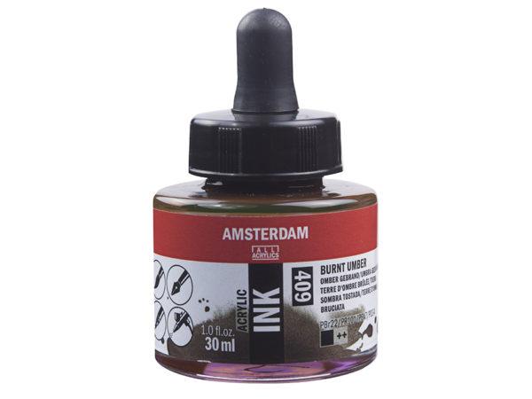 Amsterdam Ink 30ml - 409 Burnt Umber