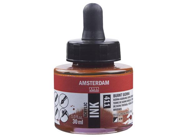 Amsterdam Ink 30ml - 411 Burnt sienna