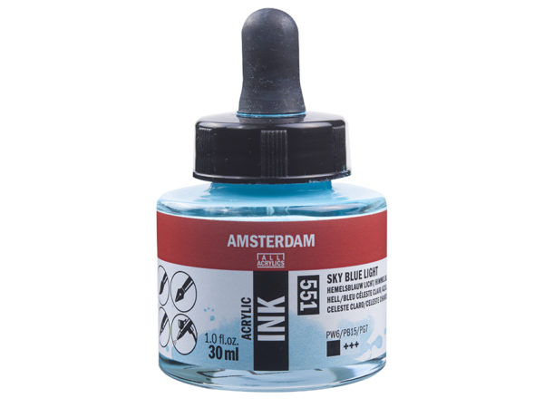 Amsterdam Ink 30ml - 551 Sky Blue Light