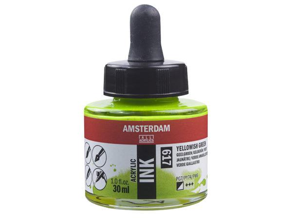Amsterdam Ink 30ml - 617 Yellowish Green