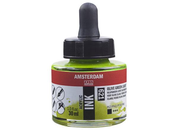 Amsterdam Ink 30ml - 621 Olive Green Light