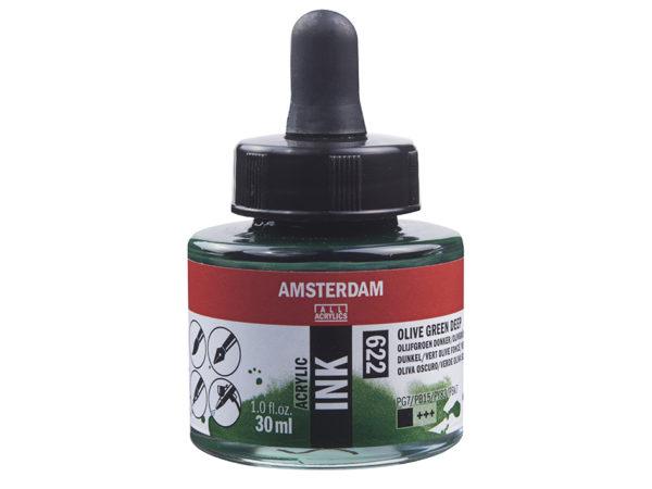 Amsterdam Ink 30ml - 622 Olive green deep