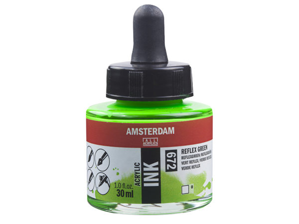 Amsterdam Ink 30ml - 672 Reflex Green
