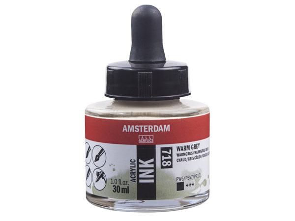 Amsterdam Ink 30ml - 718 Warm Grey