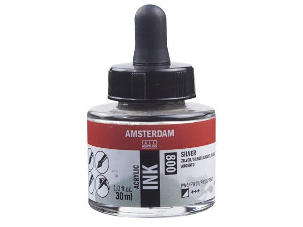 Amsterdam Ink 30ml - 800 Silver