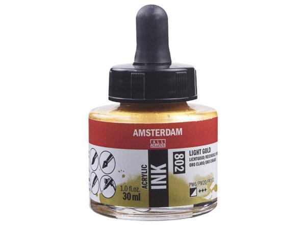 Amsterdam Ink 30ml - 802 Light Gold