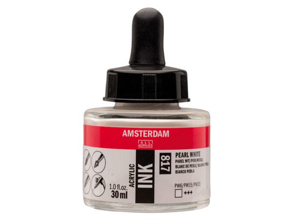 Amsterdam Ink 30ml - 817 Pearl White