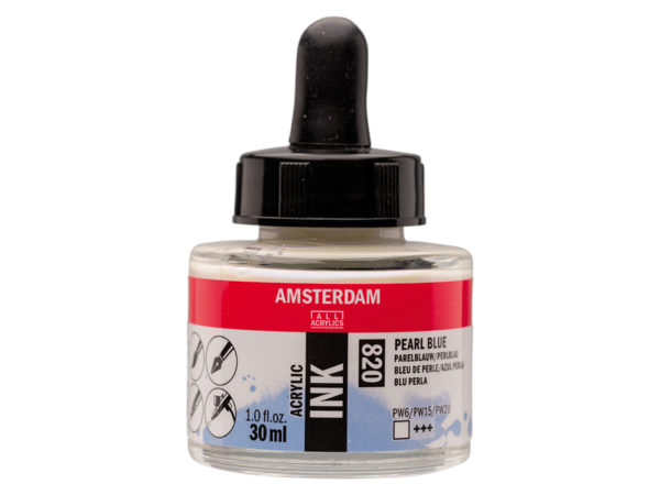 Amsterdam Ink 30ml - 820 Pearl Blue